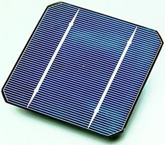 Cross-section of a photovoltaic PV cell